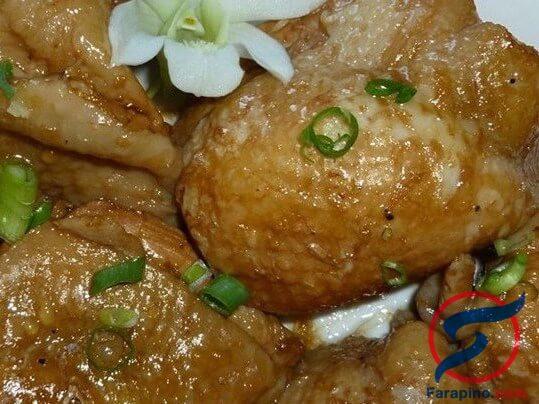 ادوبو الدجاج مع الزنجبيل