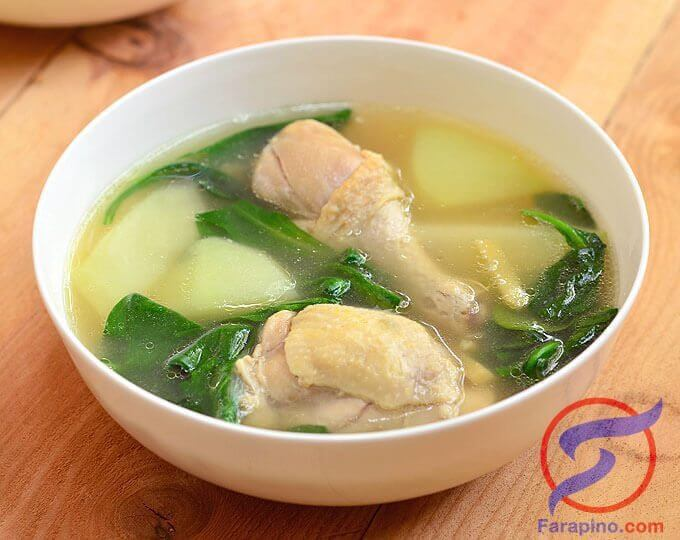 تينولا دجاج وصفة طبخ فلبيني
