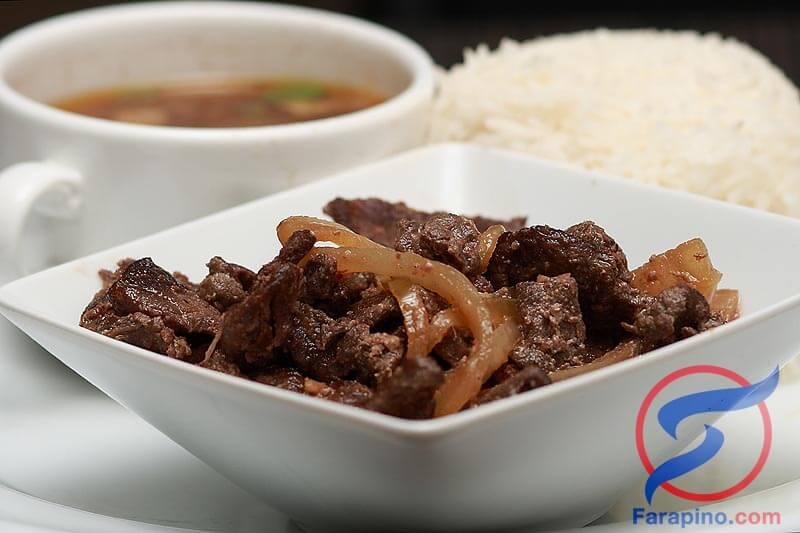 ستيك لحم البقر فلبيني