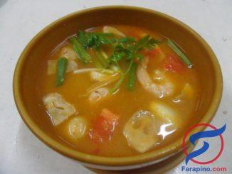 حساء جمبري والفستق طريقة الفلبينية