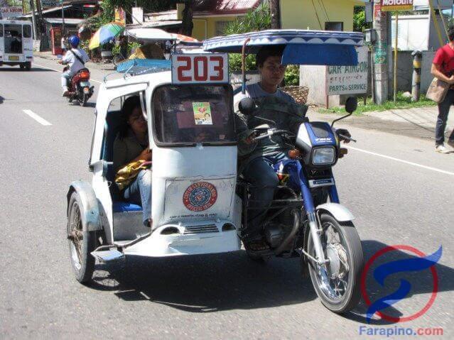 ترايسكل الفلبين دراجة نارية من انواع مواصلات الفلبين